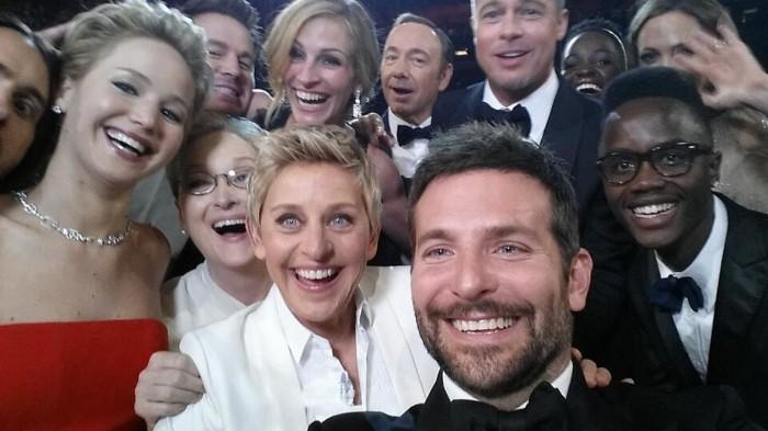 Selfie de la entrega de los Oscar 2014.