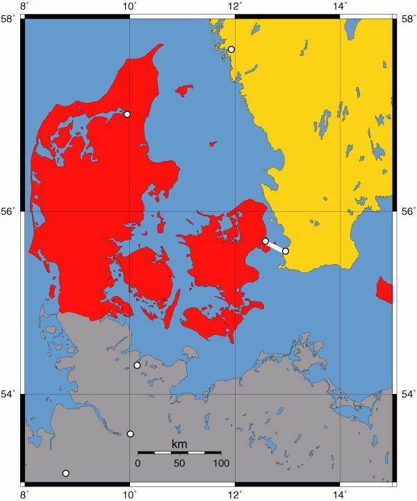 Carte-Danemark-Suède-Øresundsbron