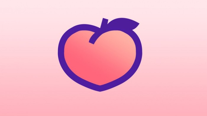 Peach red social logo