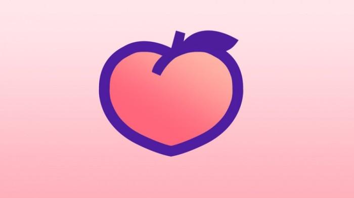 Peach red social logo