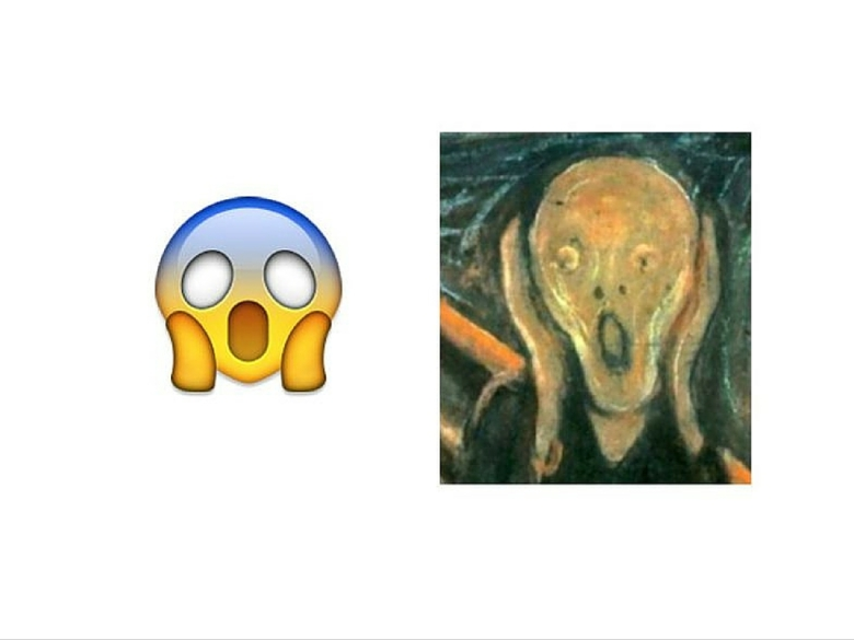 emoji asustado el grito