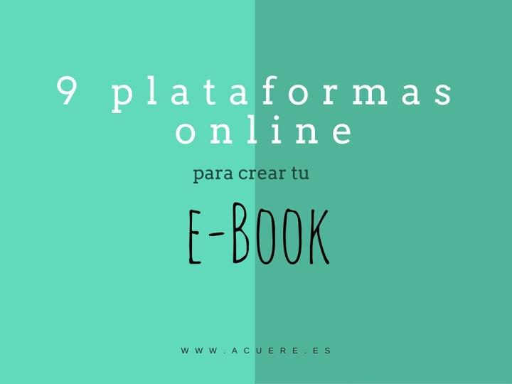 crear ebook online