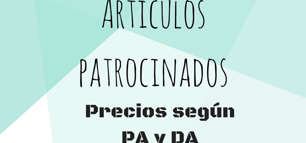 Conseguir artículos patrocinados y calcular precios según DA y PA