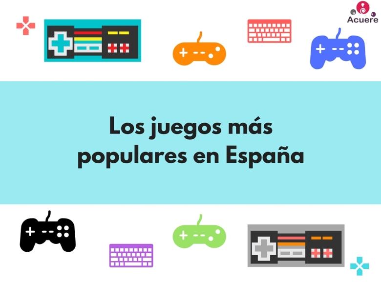 videjuegos mas jugados españa