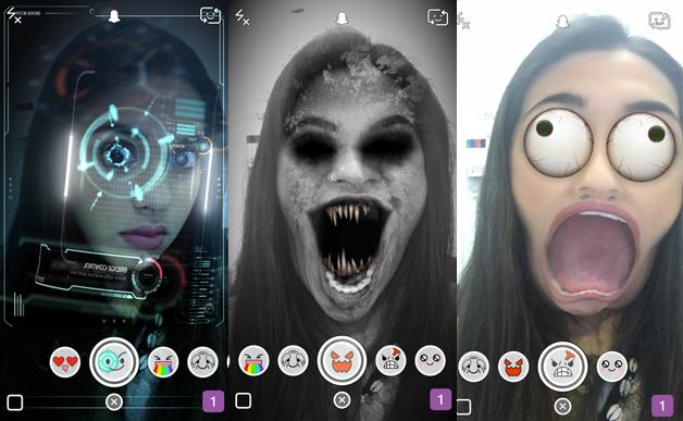 Snapchat-funkcijos