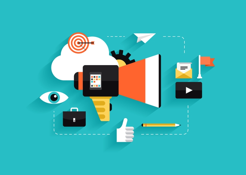 Social Media Marketing Flat Illustration